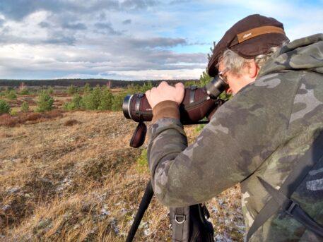 In het spoor van de wolf op de Lübtheener Heide - foto: Jan Loos